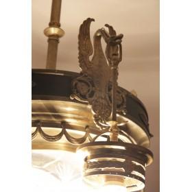 Антикварная люстра из бронзы в стиле АМПИР