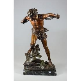 011 Бронзовая скульптура Самсон