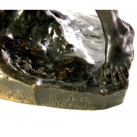 014 Антикварная бронзовая скульптура Атака орла