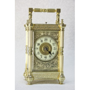 Антикварные французские часы-каретники с боем,Франция, 1900 год.