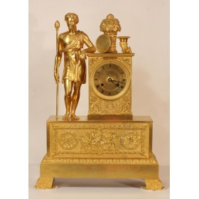 Антикварные каминные часы в стиле Ампир,Франция, начало XIX века