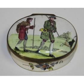 Антикварная табакерка Стаффордшир,Англия, XVIII век