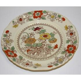 Антикварная английская тарелка MASONS с розовыми цветами