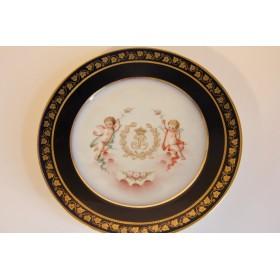 Антикварная тарелка Севрской мануфактуры 1846 год