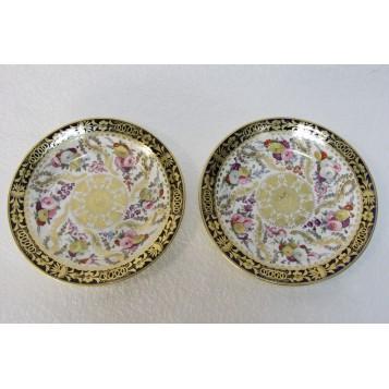 Две старинные английские тарелки,Англия, XIX век, фарфор