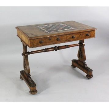 Старинный Викторианский шахматный стол,Англия, XIX век