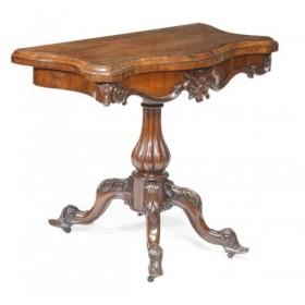 Старинный Викторианский карточный столик,Англия, 1870 год