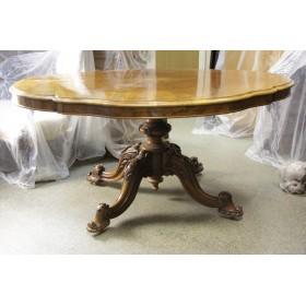 Старинный викторианский стол с откидывающейся столешницей