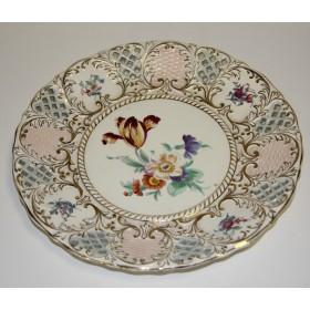 Старинная тарелка с ручной росписью Franz Menlen Royal Bonn