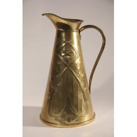 Антикварный кувшин Arts&Crafts Англия латунь