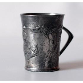 Антикварная чашечка  в стиле Ар Нуво,Англия, конец XIX века