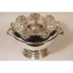 Большая чаша для пунша (Пуншница) Van Bergh Silver Plate Co.