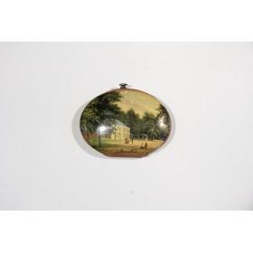 Купить старинную английскую лаковую миниатюру - кошелечек