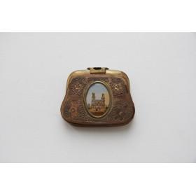 Старинный миниатюрный кошелек из латуни,Франция, XIX век