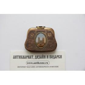 Купить старинный миниатюрный кошелек из латуни