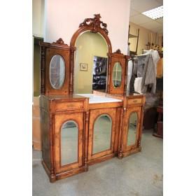 Старинный зеркальный трельяж,Франция, конец XIX века