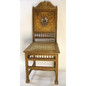 Комплект из 4-х антикварных стульев,Бретань, Франция, XIX век