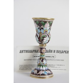 Русская эмаль, серебряная рюмка