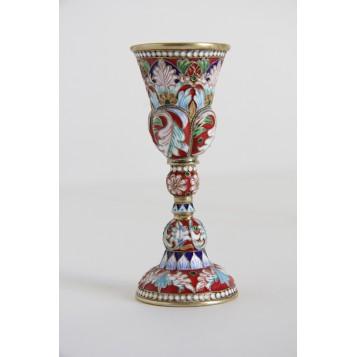 Старинная рюмка в русском стиле из серебра,XX век