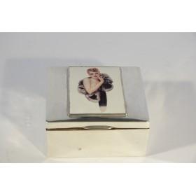 Старинная серебряная шкатулка Арт Деко
