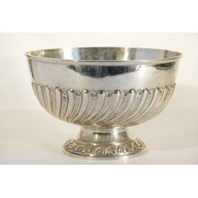 Викторианское столовое серебро, антикварная серебряная чаша для пунша