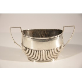 2232 Антикварная сахарница Эдвардианский стиль серебро