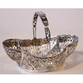 Антикварная серебряная конфетница в стиле модерн,Германия, конец XIX века