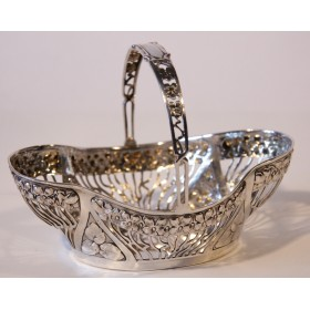 2237 Антикварная конфетница в стиле модерн, антикварное серебро
