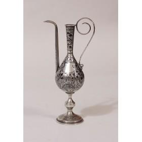 021 Русское серебро, кувшинчик из старинного серебра КАВКАЗ