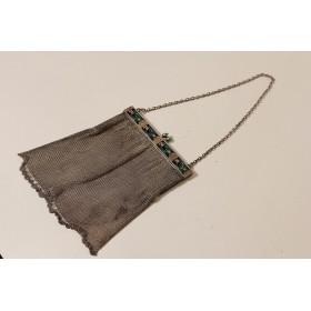 025 Винтажная серебряная сумочка в стиле АР ДЕКО