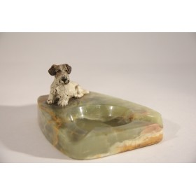 2122 Антикварная  пепельница в подарок купить, старинная венская бронза Собака