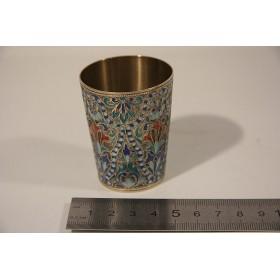004 Русское серебро, эмаль, серебряная стопка