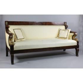 Старинный диван в стиле Русского ампира,начала XIX века.