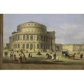 Купить старинные гравюры в подарок в Москве, Grand Tour,  Дрезден