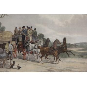 Старинные английские гравюры на тему Экипажи