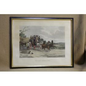 Купить старинные английские гравюры на тему Экипажи