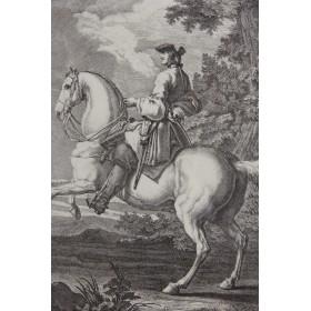 Старинные французские гравюры купить в подарок - Наездники