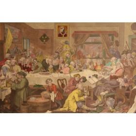 Купить английские сатирические гравюры, старинная гравюра в подарок