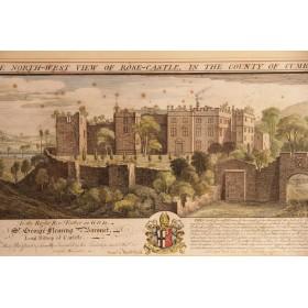 Английская антикварная гравюра Замок Роз купить в подарок в Москве