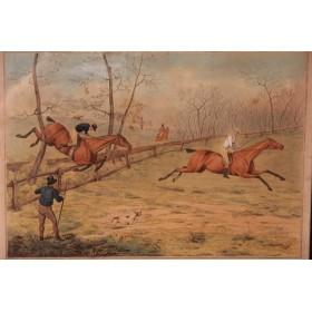 """Старинные гравюры на тему """"Охота"""",Англия, 1827 год."""