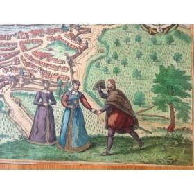 Старинная Карта Византии, Civitates Orbis Terrarum Coloniae Agrippinae