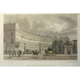 Купить викторианскую старинную гравюру - Park Crescent