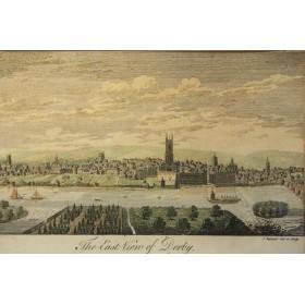 """Викторианская старинная гравюра """"Derby"""",Англия, XIX век"""