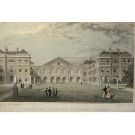 Продается викторианская антикварная гравюра Виды Англии Hospital