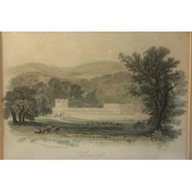 Купить старинную гравюру - Виды Англии Chatsworth