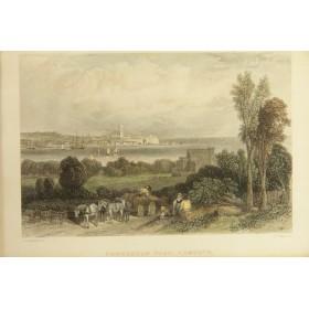 Антикварная Викторианская гравюра купить Москве - Виды Англии Exmouth