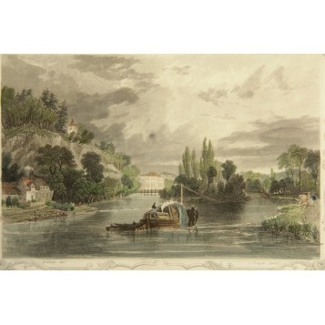 Английская гравюра из серии Виды Англии - Berks