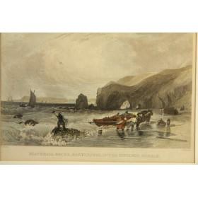 Старинная английская гравюра купить Виды Англии Durham