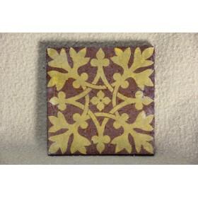 Старинная викторианская плитка со штампом