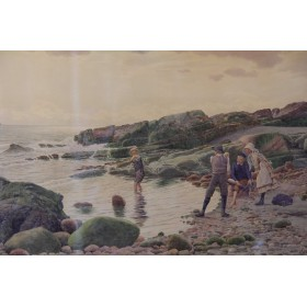 Рисунок акварель James Ireland of Liverpool Почти промокли